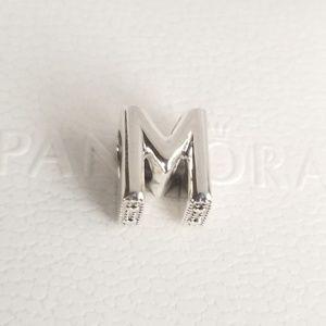 Pandora Letter M Alphabet Silver NWT 925 Ale